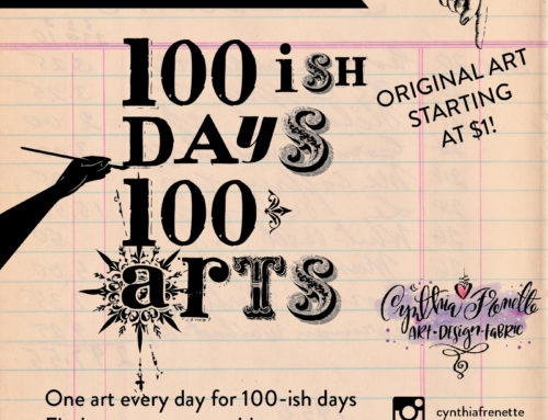 Heads up! Coming up on Monday, #100ishdays100arts!