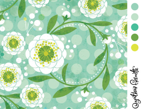Ring around the posies! My entry @spoonflower this week!