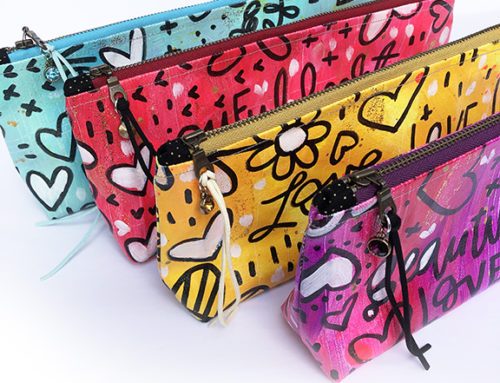 Art for sale: Art To Go Hand-painted  Pouches