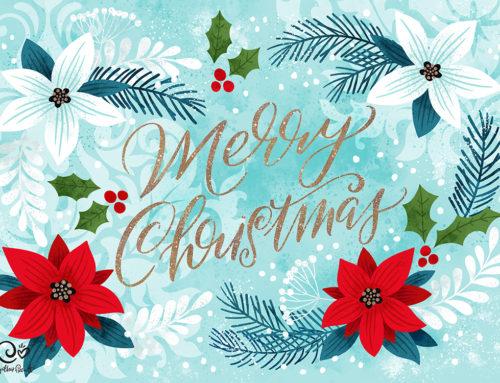 Glittery Blue Christmas