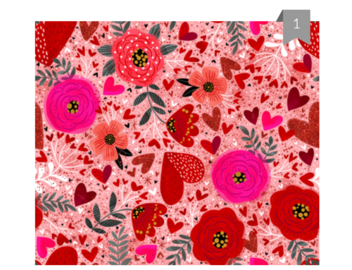 Spoonflower design challenge- Be My Valentine 1st Place finish!