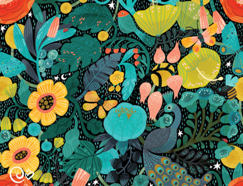 Bohemian Bop, new Spoonflower and puzzle art!