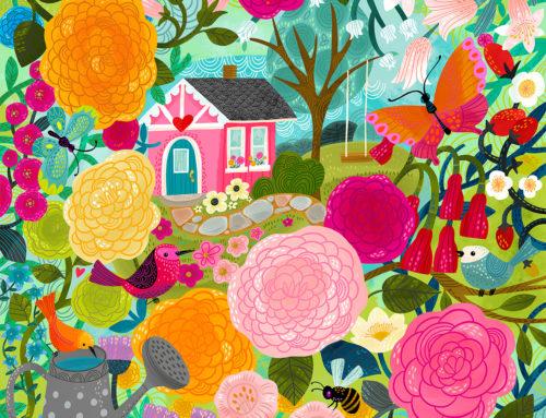 Nanny's Garden, puzzle art!