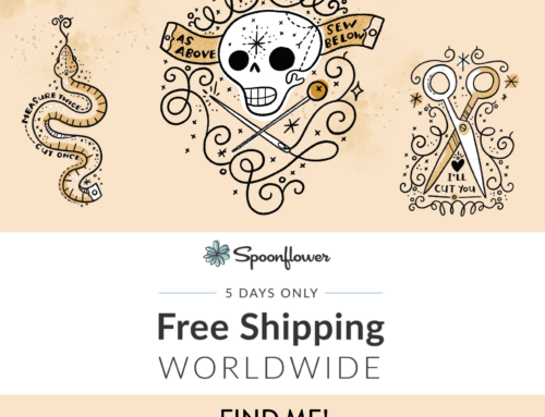 New Spoonflower challenge design and free standard shipping!
