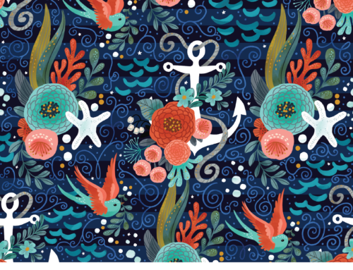 Nautical Fabric design challenge at Spoonflower!