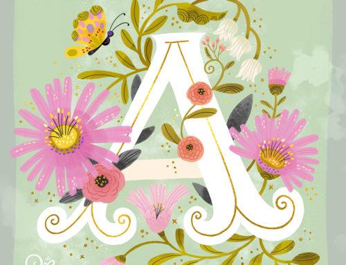 Artsy Alphabet A